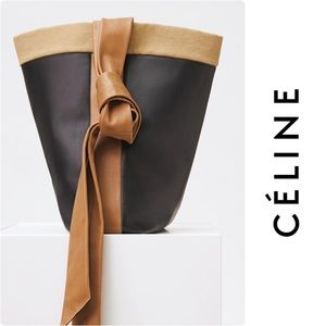 CELINE Runway Band Twisted Cabas Knot Tote Bag